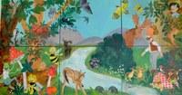 Wandbild für die Kinder - Juli 2014
